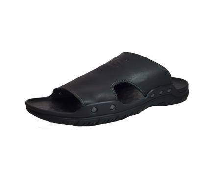 Сандалии кожаные ALS L-049 (черный)